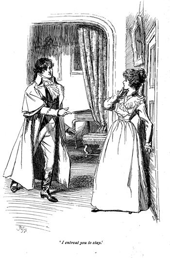 Illustration from Sense and Sensibility by Hugh Thomson, Macmillian (1901)