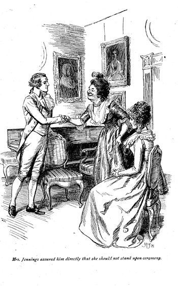 Illustration from Sense and Sensibility by Hugh Thomson, Macmillian (1901)