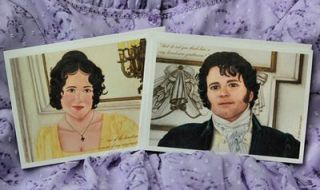 Lizzy and Darcy note cards by Janet Taylor