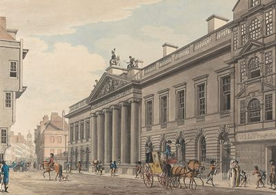 The East India Company, London, by Thomas Malton the Younger ca 1800