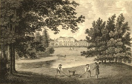Caen Wood House. later known as Kenwood House, Hampstead Heath, near London