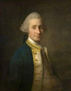 Captain Sir John Lindsay, by Alan Ramsay 1768