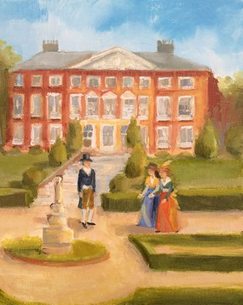 At Goodnestone Park painting by Annmarie Thomas