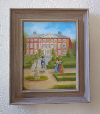 At Goodnestone Park painting framed by Annmarie Thomas