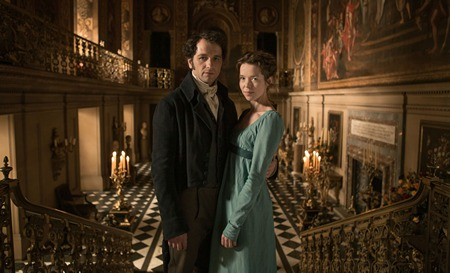Matthew Rhys and Anna Maxwell Martin in Death Comes to Pemberley