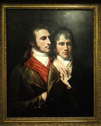 Raphael West and Benjamin West Jr., Sons of the Artist, by Benjamin West, c 1796