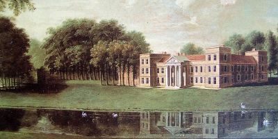 Illustration of The Vyne in Hampshire circa 1800