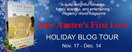 Jane Austen's First Love Holiday Blog Tour banner