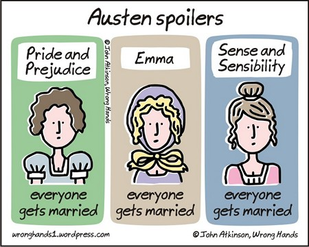 Austen Spoilers graphic by John of Wrong Hands