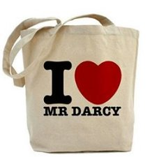 I heart Mr. Darcy tote bag x 250