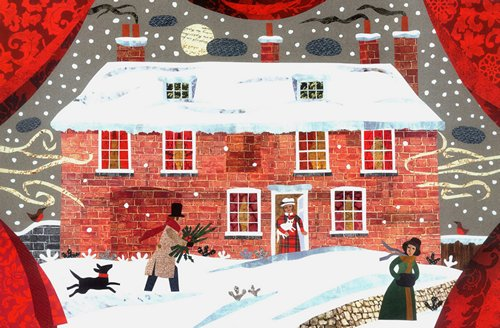 Jane Austen Christmas Card by Amanda White 2014