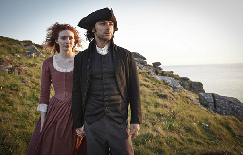 Eleanor Tomlinson and Aidan Turner in Poldark 2015
