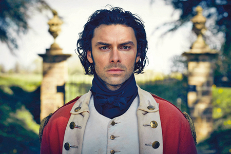 Aidan Turner as Captain Ross Poldark in his regimentals x 450