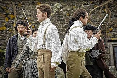 Poldark Season One Kyle Soller and Richard Harrington