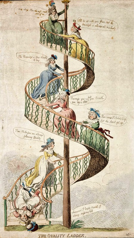 The Quality Ladder, by Isaac Cruikshank c 1793
