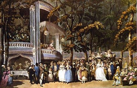 Vauxhall Gardens Rowlandson 1784