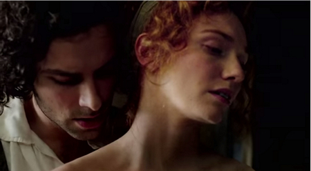 Aidan Turner and Eleanor Tomlinson Episode 3 of Poldark (2015)
