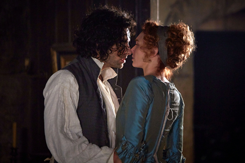 Aidan Turner and Eleanor Tomlinson in Episode 3 of Poldark (2015)