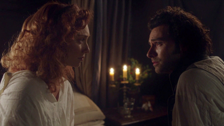 Demelza and Ross in Poldark (2015)
