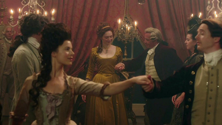 Demelza (Eleanor Tomlinson) dances at the Warleggan ball. Image (c) 2015 Mammoth Screen, Ltd. for Masterpiece PBS