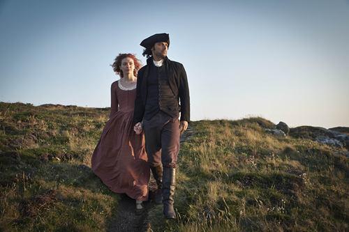 Eleanor Tomlinson and Aidan Turner in Poldark (2015)