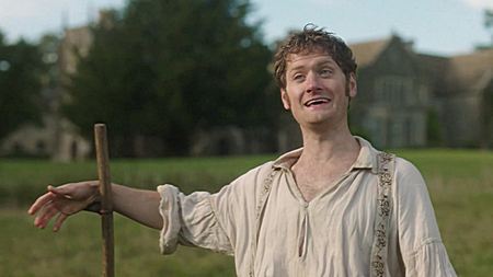 Francis (Kyle Soller) scythes. Image (c) 2015 Mammoth Screen, Ltd. for Masterpiece PBS