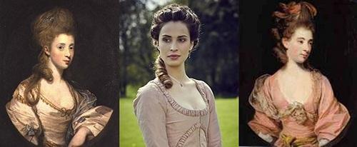 Joshua Reynolds painting compared to Elizabeth Chynoweth in Poldark (2015)