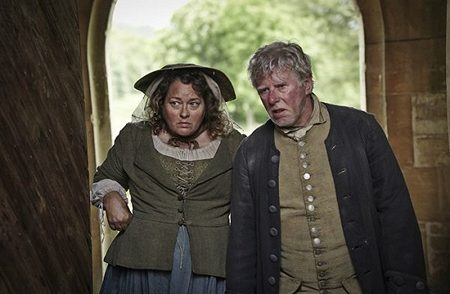 Beatie Edney as Prudie and Philip Davis as Jud in Poldark (2015)