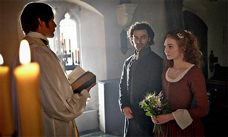 Ross and Demelza's wedding Episode 3 Poldark (2015)