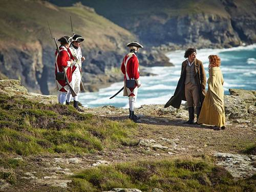 Soldiers arrest Ross Poldark (Aidan Turner). Image (c) 2015 Mammoth Screen, Ltd. for Masterpiece PBS