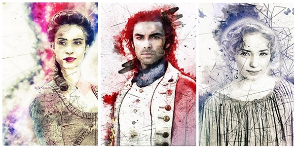 The Cornwall Series, Poldark inspired artwork by Red Sangre (c) 2015