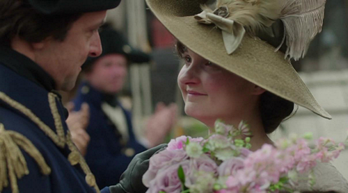 Verity (Ruby Bentall) marries Captain Blamey (Richard Harrington) in Poldark. Image (c) 2015 Mammoth Screen, Ltd. for Masterpiece PBS