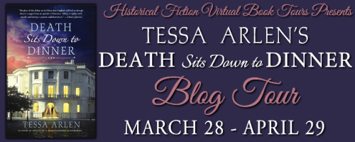 Death Sits Down to Dinner Blog Tour Banner
