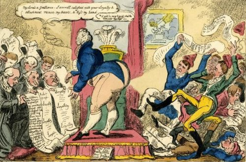 George Cruikshank Loyal address's & radical petetions, or the R-ts most gracious answer to both sides of the question at once (1819