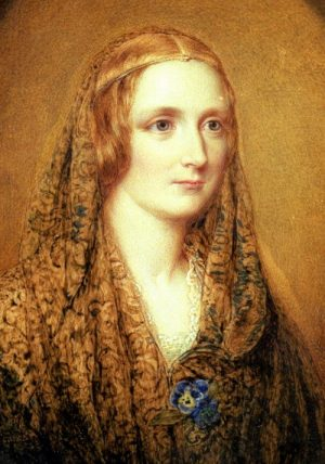 Posthumus Mmniature of Mary Shelley by Reginald Easton