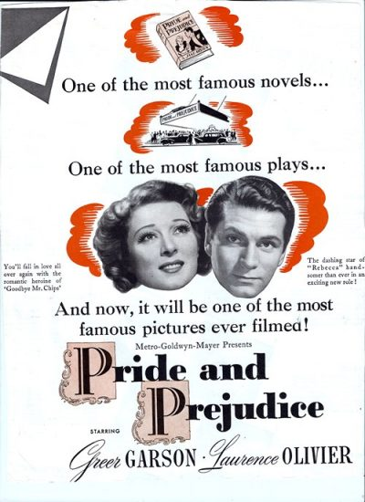 Pride and Prejudice movie poster 1940 MGM