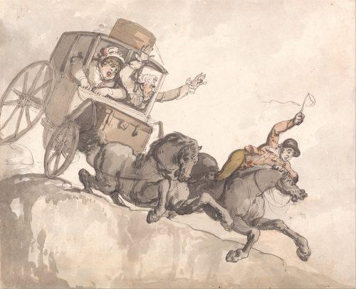 Illustration by Thomas Rowlandson's 'he Runaway Coach (c. 1791)