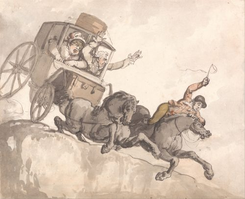 Illustration by Thomas Rowlandson's 'he Runaway Coach (c. 1791)