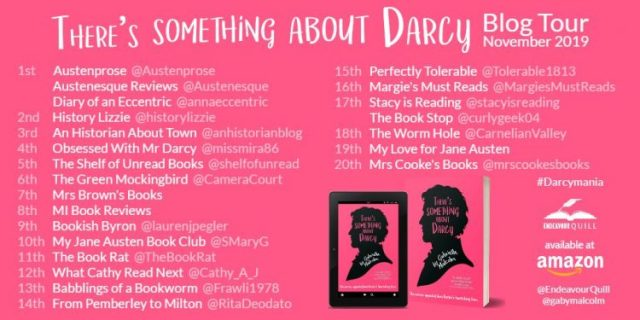 There is Something about Darcy Blog Tour Banner