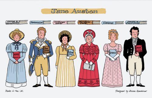 Alison Gardiner Jane Austen Tea Towel