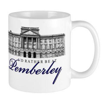 I'd Rather Be At Pemberley Mug CafePress