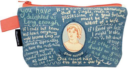 Jane Austen Zipper Pouch