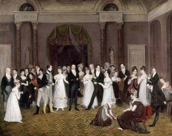 Clifton Assembly Rooms, by Rolinda Sharples (1818)