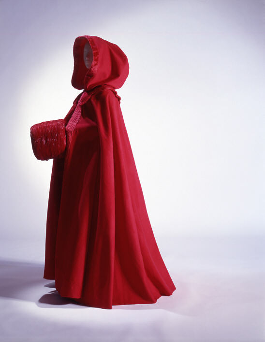 Red wool coat popular during Regency times