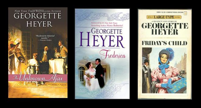 Three favorite Georgette Heyer novels banner