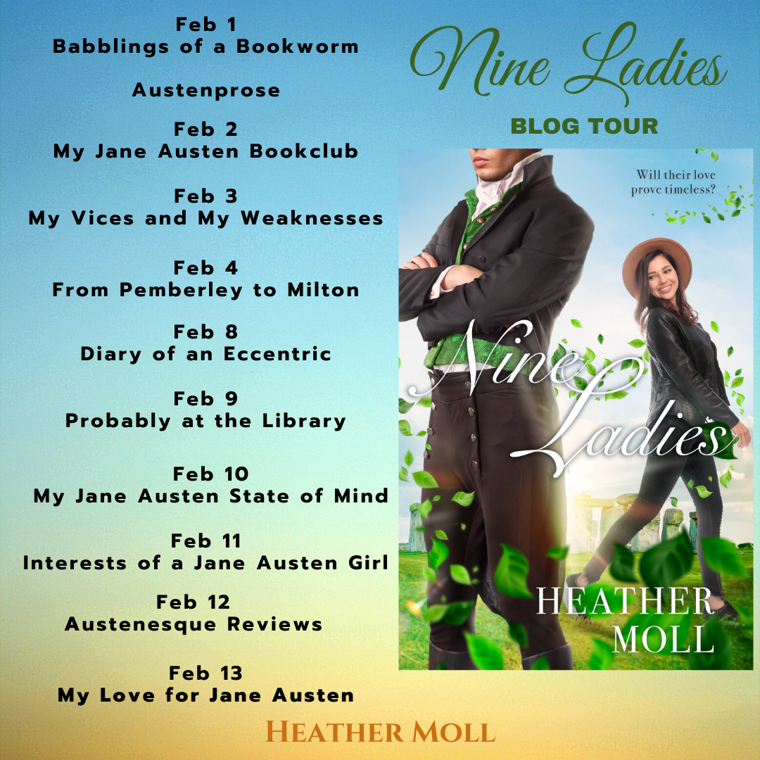 Nine Ladies blog tour graphic