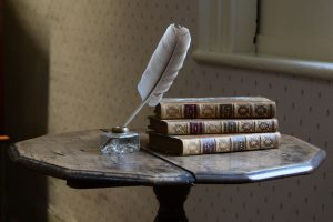 Jane Austen's writing desk at Chawton Cottage